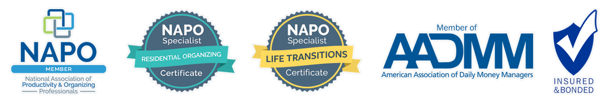 Member National Association of Productivity & Organizing Professionals (NAPO) and American Association of Daily Money Managers (AADMM)